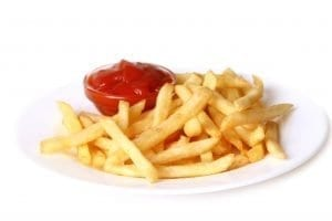 giving your cat ketchup with french fries